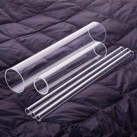 1 Pcs High Borosilicate Glass Tube Outer Diameter 80mm Full Length 200mm 250mm 300mm High Temperature