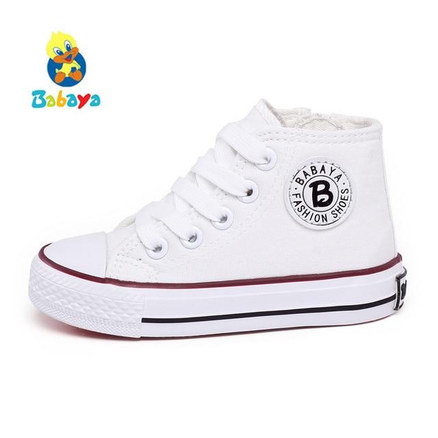 3888c08ce6313 Chaussures enfants pour fille enfants toile chaussures garçons baskets 2018  printemps automne filles chaussures blanc haute