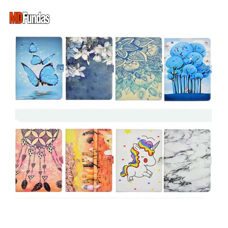 MDFUNDAS Pretty Flower Cat Pattern Flip Leather Case Cover For Amazon Kindle Fire 7 2015 Wallet Bag Coque For Kindle HD 7 2015