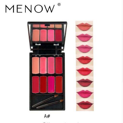 Menow Brand 8 colors Lip Gloss Palette Makeup Waterproof Lasting Moisturizer Lipsticks Women beauty lips Cosmetic Lip 3