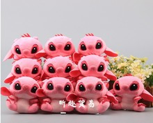цены 10pcs/lot 10cm Lilo Stitch Plush Toy Doll Plush Keychain Pendants for children girlfreind birthday gift