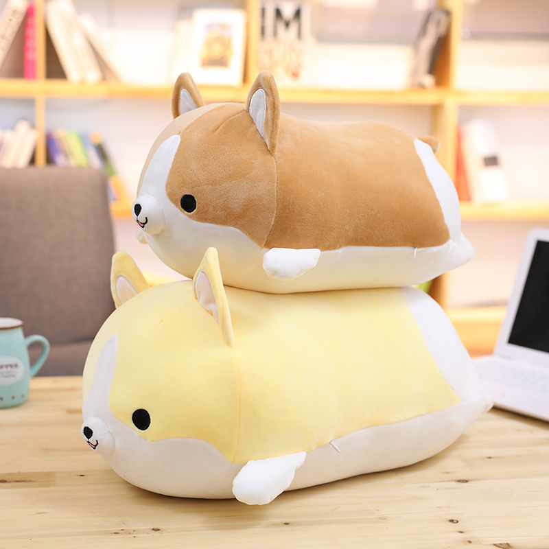 Miaoowa 60cm Cute Corgi Dog Plush Toy Doll Stuffed Soft Animal Cartoon Pillow Lovely Gift for Kids Kawaii Valentine Present 1pc 45cm kawaii pig plush toy stuffed cartoon hand warmer soft pillow sleeping toy for girls kids love doll cute gift for child
