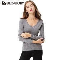 GLO STORY Brand Sweater Women Pullover 2016 Lady Autumn Winter Knitted Sweater Jumper Women Tops WMY