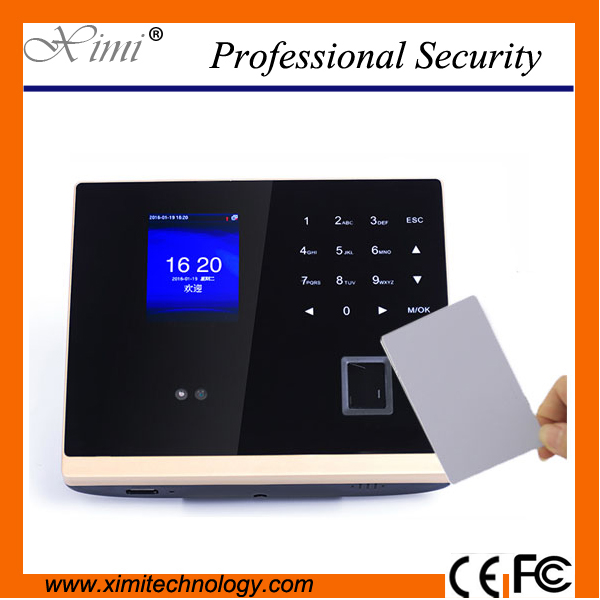 3TFT color screen with infrared camera 13.56mhz MF card access control TCP/IP employee facial time attendance device