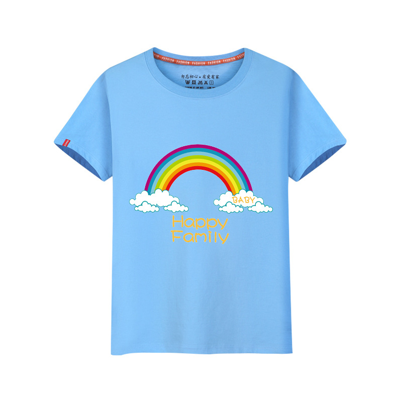 <font><b>2</b></font>-8Y Short sleeve boys girls t <font><b>shirts</b></font> kids rainbow cotton summer tees casual children stripe tops hot sale boy clothes wholesale image