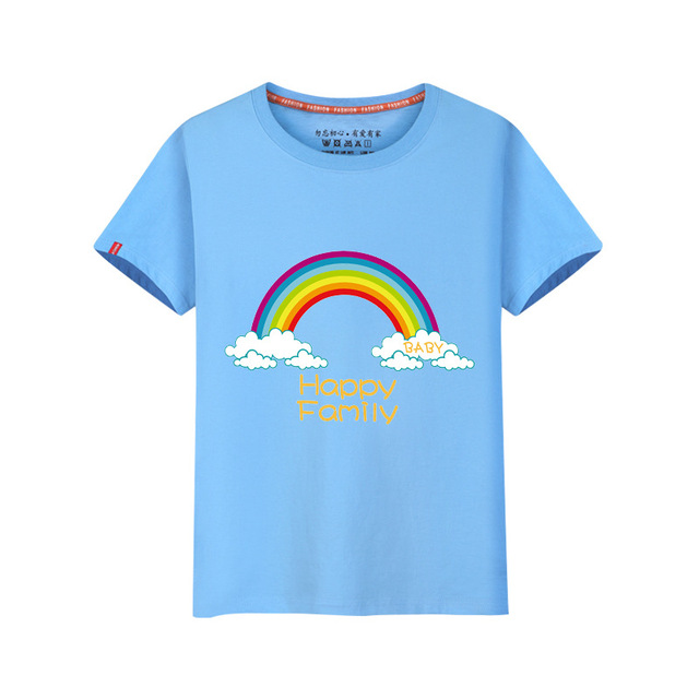86b71832b 2-8Y Short sleeve boys girls t shirts kids rainbow cotton summer tees  casual children stripe tops hot sale boy clothes wholesale
