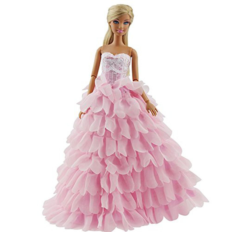 Roosakas kleit ja müts Barbie nukule