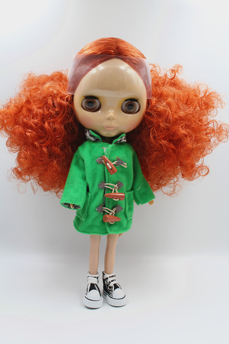 Blygirl Doll orange hair Explosive volume Blyth Doll body Fashion can change makeup Fashion doll Wheat skinBlygirl Doll orange hair Explosive volume Blyth Doll body Fashion can change makeup Fashion doll Wheat skin