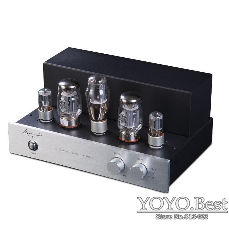 Douk Audio Hifi Stereo KT88-K1 Tube Amplifier Single-ended 2.0 Channel Power AMP 15W*2 For CD Handmade Traditional Scaffolding douk audio pure handmade hi fi psvane 300b tube amplifier audio stereo dual channel single ended amp 8w 2 finished product