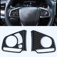 For Honda CR-V CRV 2017 2018 Steering Wheel Button Decorative Cover Trim Car styling auto accessories