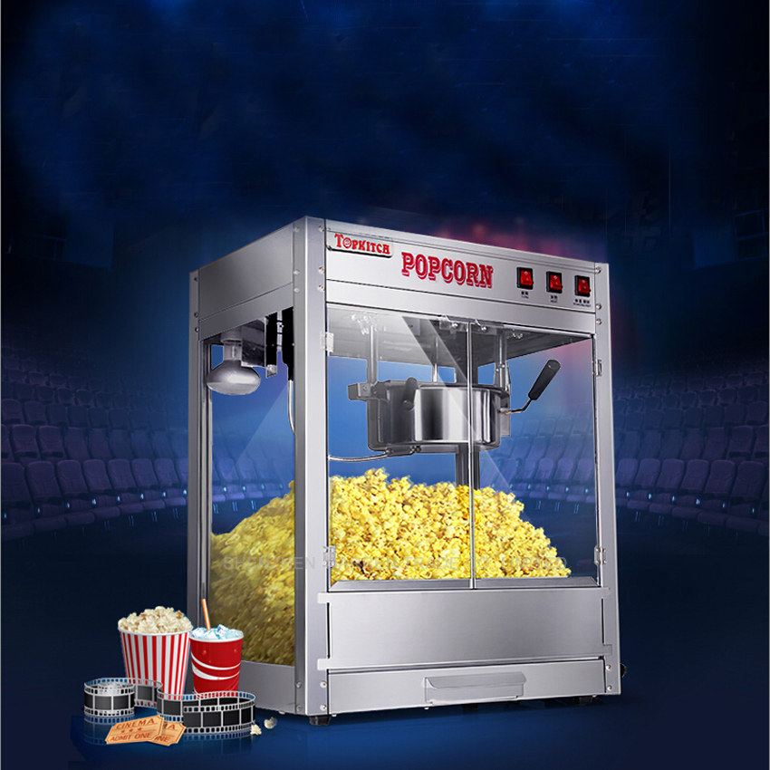 1PC 2016 High Quality Popular Popcorn Machine Popcorn Maker Commercial Popcorn Machine pop 06 economic popcorn maker commercial popcorn machine with cart