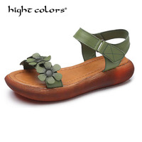 2018 Women Sandals Green Beige Purple flat Sandals High heel Summer women Open Toe Platform Sandalias ladies gladiator sandals