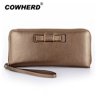Women Wallets Brand Design High Quality Leather Wallet Female Bowtie Fashion Dollar Price Long Wallets And
