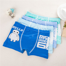 4pcs/lot Children's Cotton Underwear Baby Boys Underwear Boxers Cartoon Boy Briefs Infant Boy Panties Kids Short Clothes