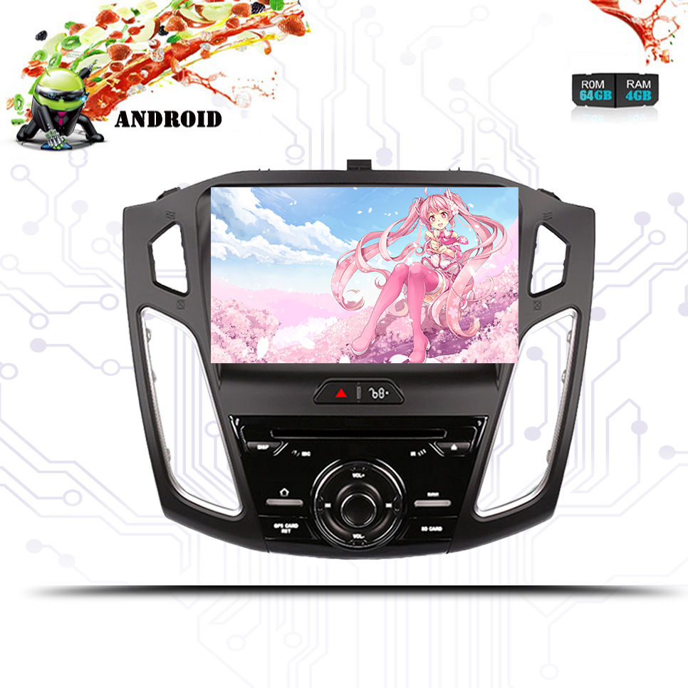 4GB RAM 2 DIN Android 9.0 Car DVD For <font><b>Ford</b></font> 2015 2016 <font><b>2017</b></font> <font><b>Focus</b></font> Auto Audio Video Radio Stereo WiFi Camera GPS <font><b>Navigation</b></font> System image