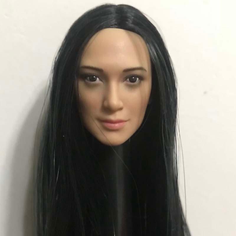 1/6 Scale ทหารหญิงหัว Sculpt สามรูปแบบทันสมัยรุ่น Asia Beauty แกะสลักสำหรับ 12 นิ้ว Action Figure ของเล่น mnotht-ใน ฟิกเกอร์แอคชันและของเล่น จาก ของเล่นและงานอดิเรก บน   2