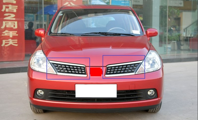 ABS Front Bumper Mesh Grille Grill Fit For Nissan Tiida / Versa / Latio (C11) 2005-2007