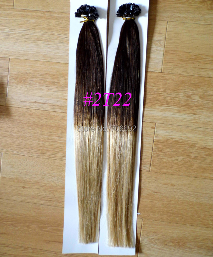 18 20 100grams Ombre Dip Dye 2 Tone U Tip Nail Hair Keratin
