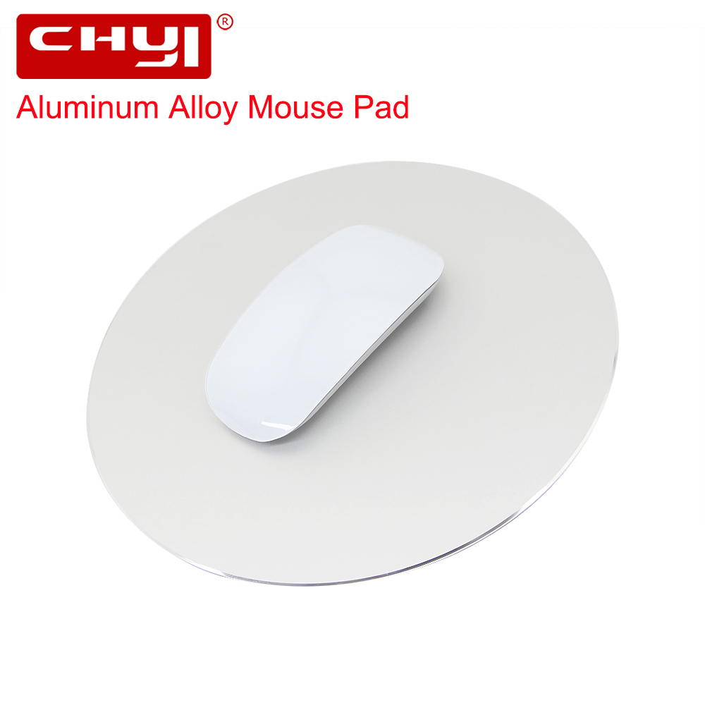 CHYI Aluminum Alloy Metal Slim Round Game Mouse Pad PC Computer Laptop Gaming <font><b>Mousepad</b></font> for Apple MackBook Pro Magic <font><b>Xiaomi</b></font> Mice image
