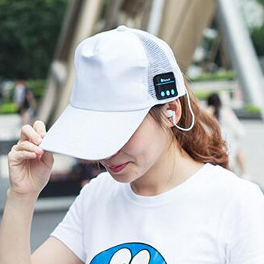 ae02652a221 Wireless Bluetooth headset Baseball Cap Snapback Caps Bone Hat Distressed  Wearing Style Hat For Men Custom Hats-in Baseball Caps from Apparel  Accessories on ...
