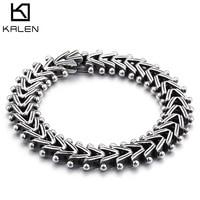 Kalen Vintage 21 cm Lange Link Chain Armband Voor Mannen Rvs Arrow Charm Hand Ketting Brecelet Mannelijke Mode-sieraden geschenken