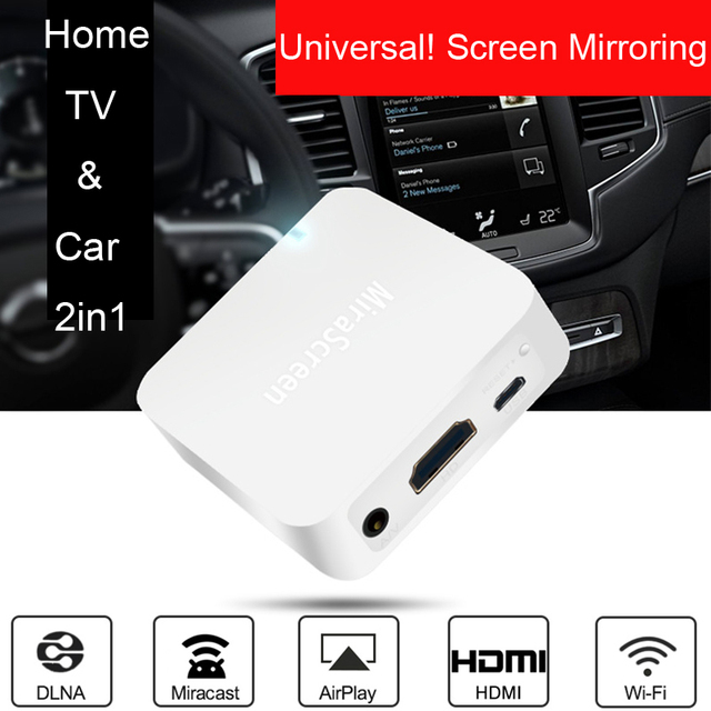 Wireless WIFI Mirror link Box HDMI Dongle For Xiaomi for HUAWEI LG HTC Sony  iOS Android Phone Video Screen Display to Car / TV
