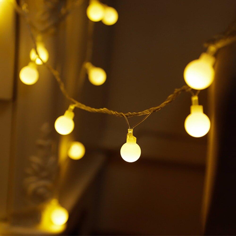5M Globe String Light with 50 Clear/Milky Bulbs, Connectable Vintage Festoon Ball String Light,Christmas Fairy Light