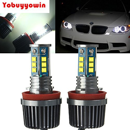 2x Long Life Utral-bright 80W CREE Chips H8 LED Angel Eyes Halo Ring Marker Light Bulbs Xenon White 6000K for BMW E70 E89 E90  no bulb out warning message 40w h8 led angel eyes halo ring marker light bulbs xenon white 6k for bmw e60 e90 e92 e70 x5 x6