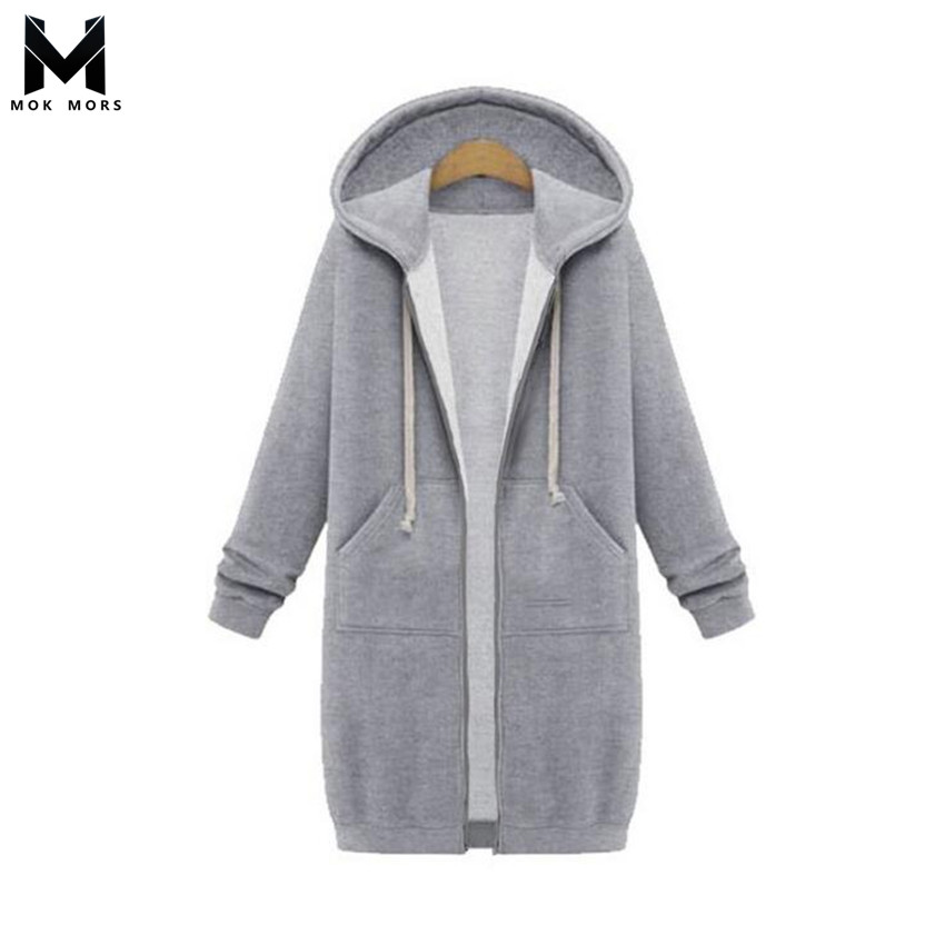 Cross-border Hot Women's Long Solid Color Large Size Long Sleeve Women Hoodie Fashion Casual Plus Velvet Cotton Womens Hoodies