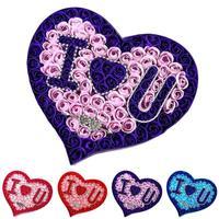 I love U Románticas Flores Decorativas Jabón Pétalo de la Flor Favores de La Boda del Regalo del Día de San Valentín Rose Bouquet R6