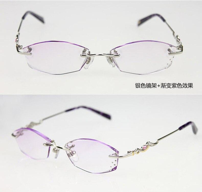 Modelos femeninos de diamantes corte lectura gafas sin montura gafas ...