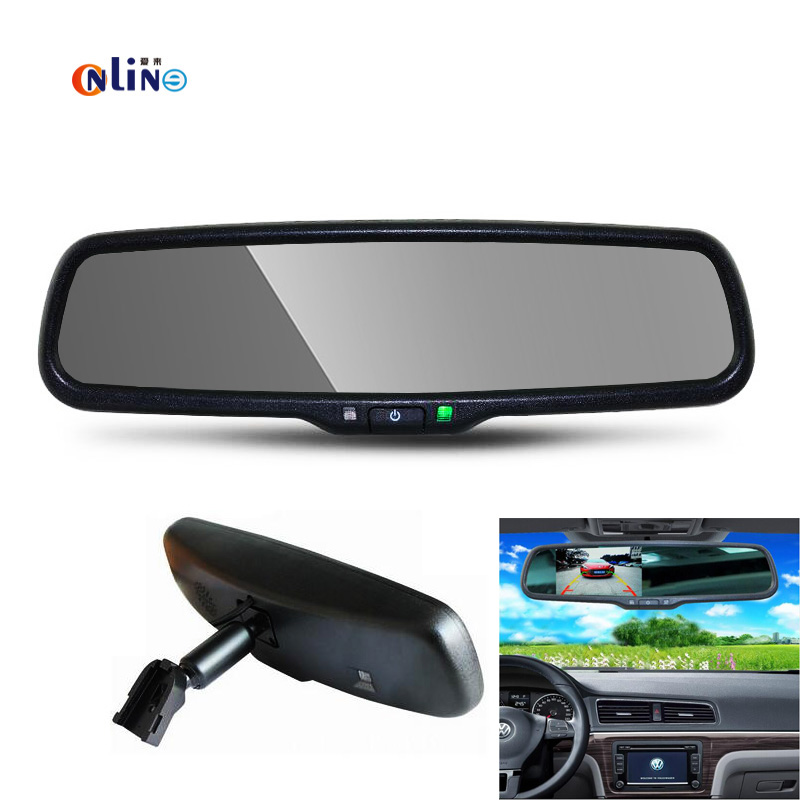 4.3 TFT LCD Car Windscreen Rear View Mirror Car Bracket Monitor with 2CH Video Input For Parking Assistance System linvel 8170 2 ch mirror