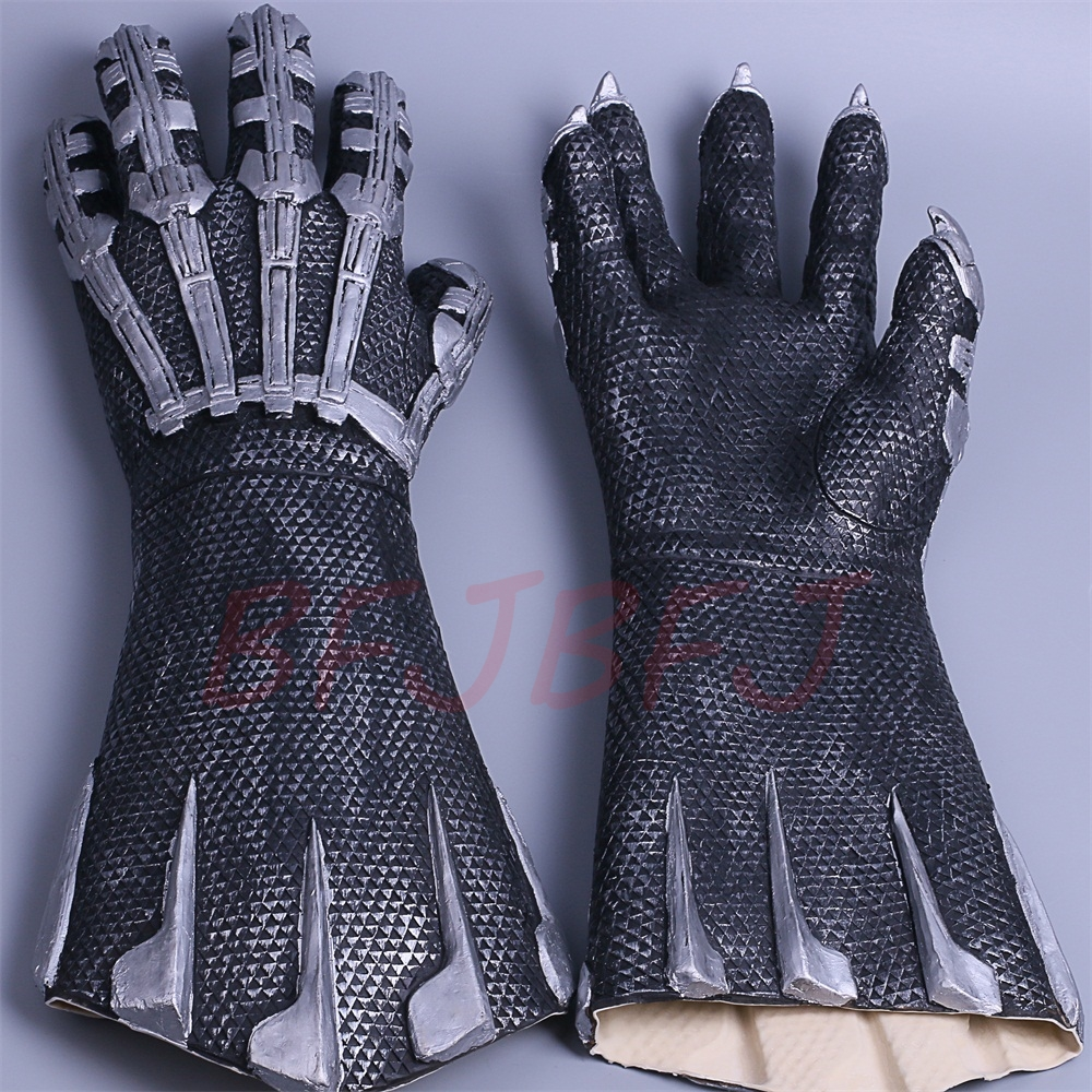 2018 New Black Panther Claws Gloves Cosplay Superhero Halloween Gloves Handmade