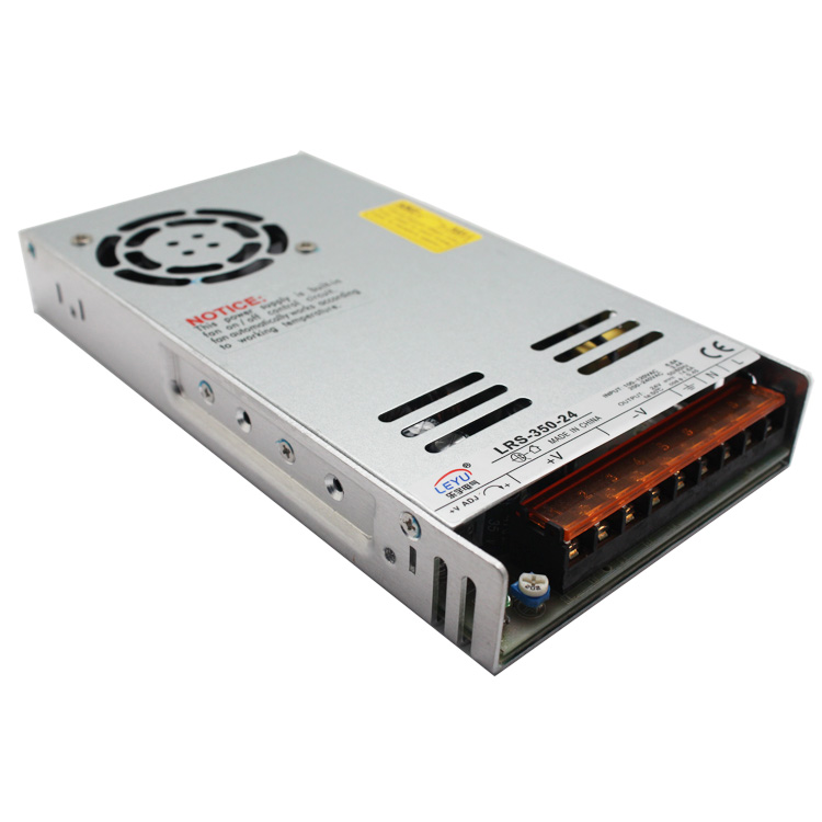 Slim type 220vac 24vdc single output constant voltage 350w 7.3a overload LRS-350-24 led switching mode power supply