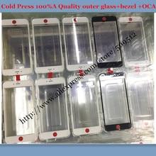 10 шт. лучшее холодное нажатие для iphone 6 6S 6 plus 7/7 plus внешнее стекло с рамкой с oca стекло+ рамка+ oca