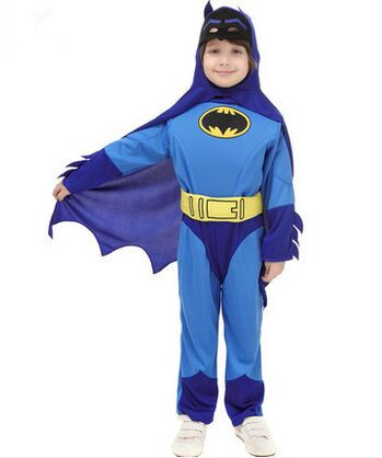 joker batman cosplay batman costume children halloween bat costume blue performance wear kids animal costumes for - Joker Halloween Costume Kids