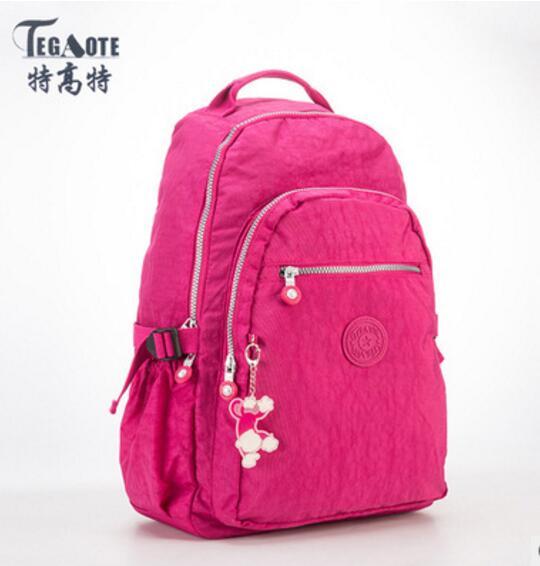 TEGAOTE Nylon Printing Backpack Women School Bags for Teenage Girls Cute Bookbags Vintage Laptop Backpack Female  Sac A Dos 996 toyl anvas printing backpack women school bags for teenage girls cute bookbags vintage laptop backpacks female