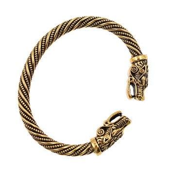PENGBIN, brazalete de apertura para hombre, doble grifo de aleación, pulseras dominantes, exquisito diseño de cabeza de dragón, accesorios de joyería