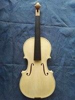 Free Shipping Pure European Wood Copy Guiseppe Guarneri del Gesu Cannon 1743 100% Handmade White Violin FPVN04 with Foam Case
