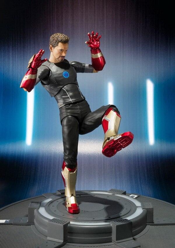Новые горячие 15 см Железный человек Мстители Тони Старк Человек-паук: выпускников фигурку игрушки Человек-паук Рождественский подарок кукл...