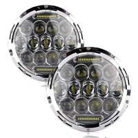2 X 7 INCH 75W High Low Dual Beam Car Light Source LED Headlight Bulb For