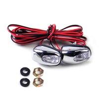Citall universal 2 pçs led luz da lâmpada pára brisa limpador jato de água spray bico limpador olho para mercedes audi toyota|Toldos e abrigos|Automóveis e motos -