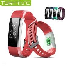 Torntisc ID115 плюс Смарт Браслет сердечного ритма Мониторы активности Фитнес трекер Reloj inteligente Смарт часы