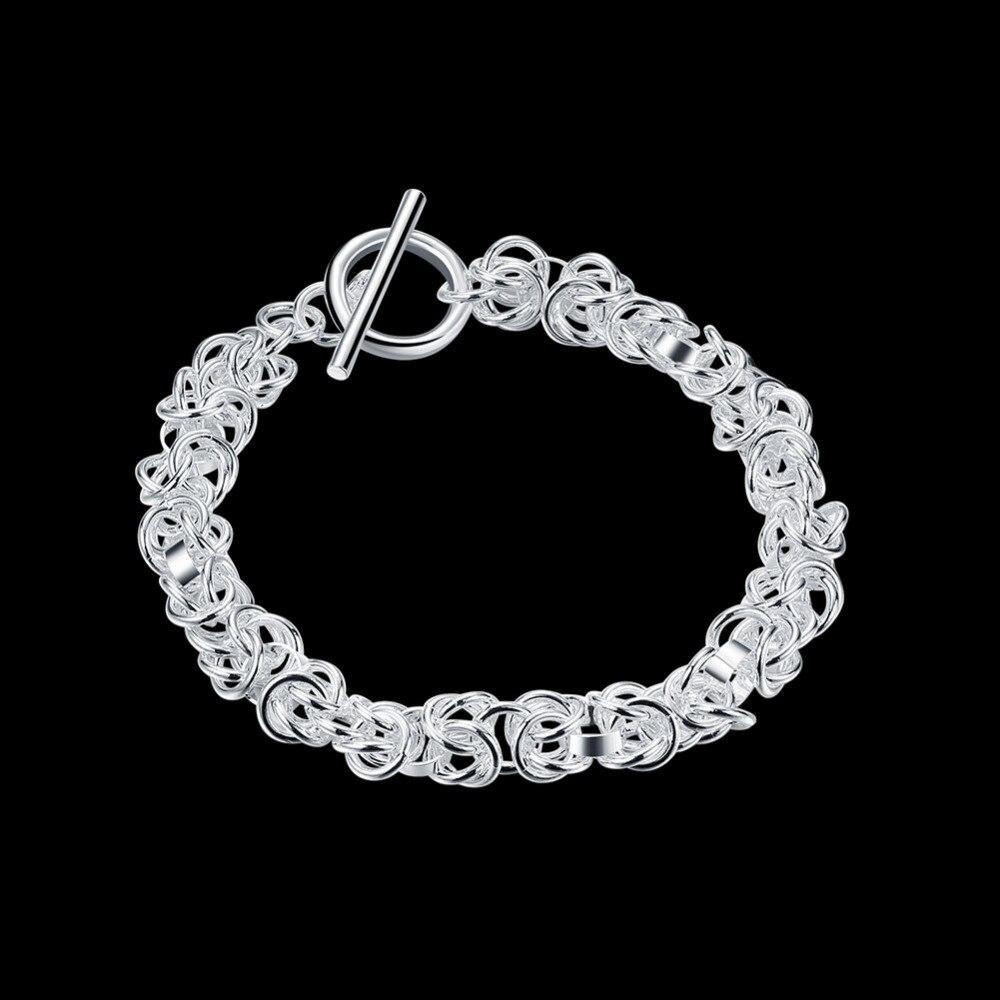 ab92adbf6d90 2018 nueva calidad superior de la plata esterlina 925 para estrechar samll  dragón cesta cadena pulsera para las mujeres al por mayor CH033