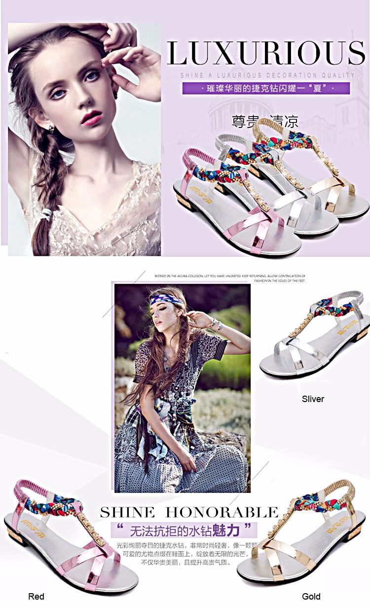 9dec054a8e32a 2016 New Rhinestone Style Peep Toe Square Women Sandals Brand ...