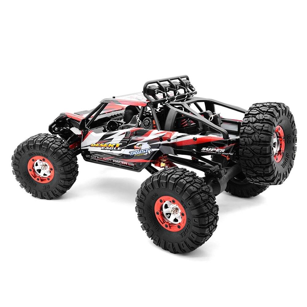 Venta caliente RC coche fuera de carretera desierto coche de Control remoto 1:12 RTR 2,4 GHz modelo de monstruo coche 4CH 4WD regalos de juguetes para vehículos con orugas de roca - 6