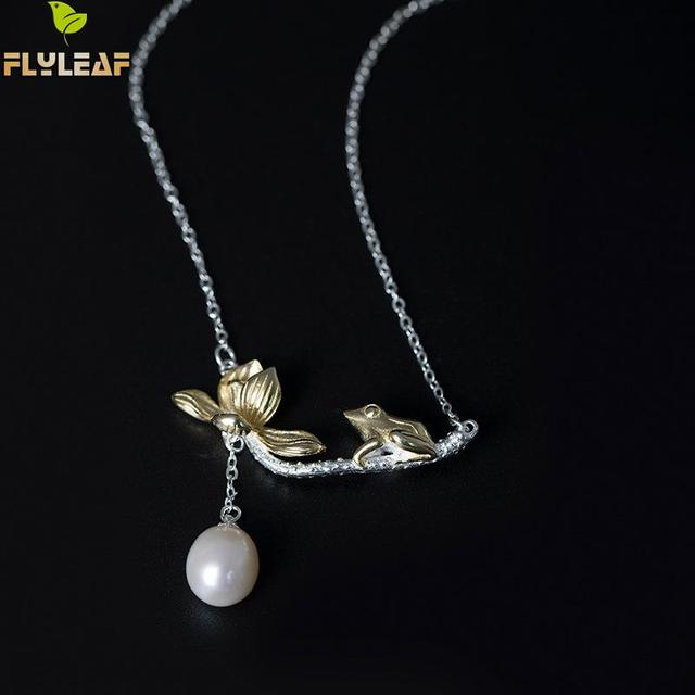 Flyleaf 100 925 sterling silver natural bead frog lotus flower flyleaf 100 925 sterling silver natural bead frog lotus flower necklaces pendants for women mightylinksfo