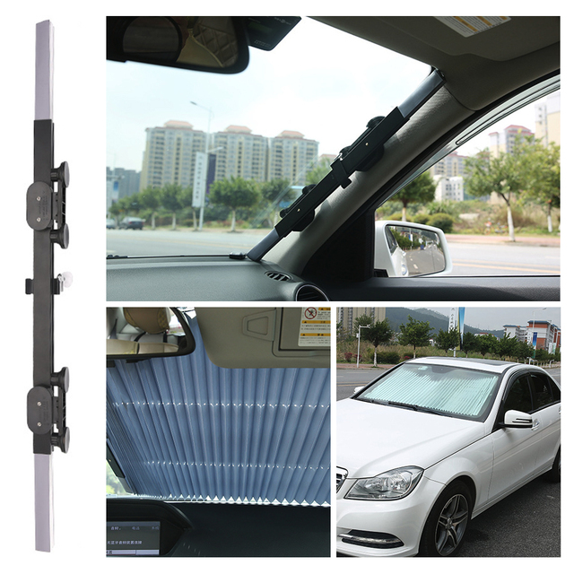Universal Car Sun Visor Retractable Front Windscreen Car Sunshade Auto Sun Shades for Windshield UV Protection Covers Accessory