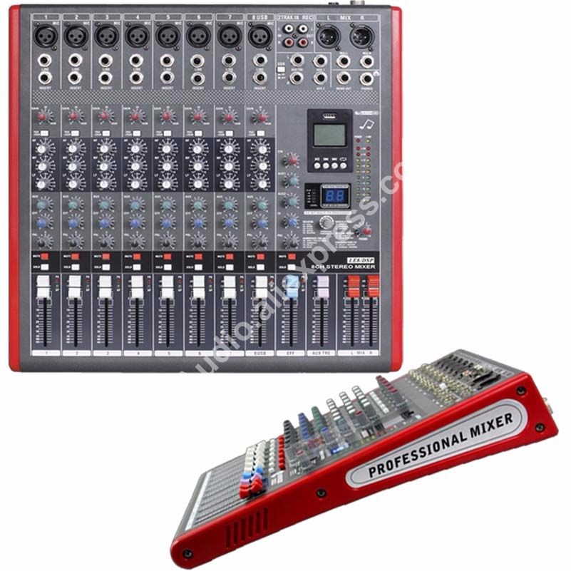 US $257 0 |MICWL LE8 Pro 8 Channel 99 DSP Effects Stereo Microphone Mixer  Sound Mixing Console MP3 USB 48V 24 Bit Multi FX Processor-in Microphones