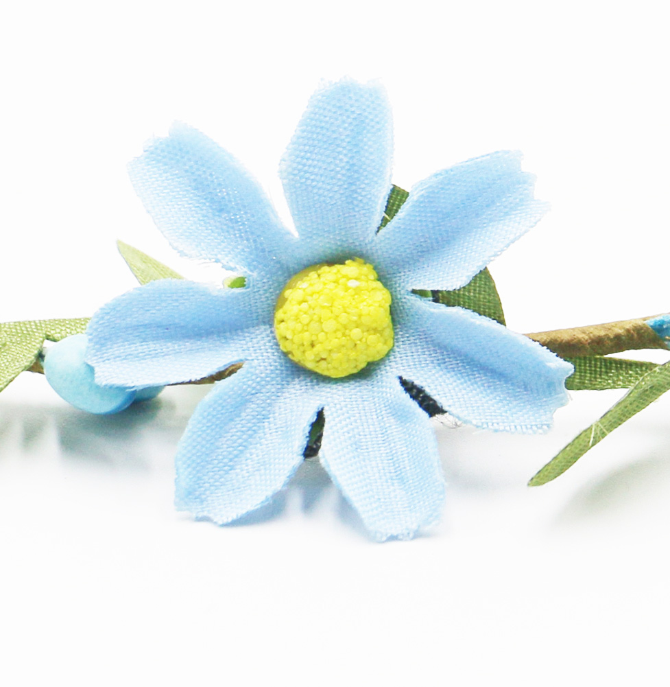 2018 flower wreath headband light blue flower garland hot sale 2018 flower wreath headband light blue flower garland hot sale artificial flower wedding valentines gift in wreaths garlands from home garden on izmirmasajfo